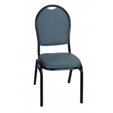 Μεταλλική Καρέκλα Μαύρος Σκελετός Γκρι Κάθισμα Και Πλάτη CHR-JDY-002/BLK+GRY 42x44x93
