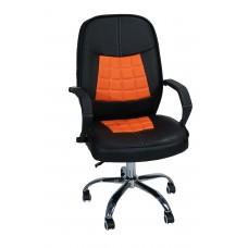 Καρέκλα Γραφείου Διευθυντική Με Δερματίνη Μεταλλικά Πόδια OFCHR-318/ORG 53x56x100