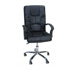 Καρέκλα Γραφείου Διευθυντική Με Δερματίνη Μεταλλικά Πόδια OFCHR-1/BLK 50x58x103