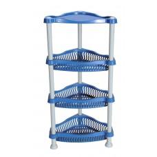 Πλαστικός Μανάβης Ραφιέρα Γωνιακός Μπλε 35x27x70υψ H-0257/L.BLU+WHT