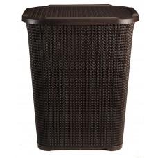 Καλάθι Απλύτων Rattan Σκούρο Καφέ 60lt 214/RATTAN-BRN 32-800-0667