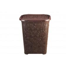 Καλάθι Απλύτων Δαντέλα Σκούρο Καφέ 60lt 207/LACE-BRN 32-800-0663