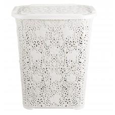 Καλάθι Απλύτων Δαντέλα Λευκό 60lt 207/LACE-WHT 32-800-0664
