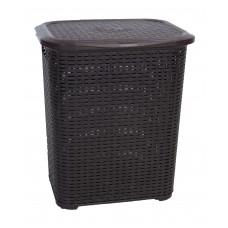 Καλάθι Πλαστικό Απλύτων Rattan 45lt Σκούρο Καφέ TP7019-BRW-45L 32-800-0754