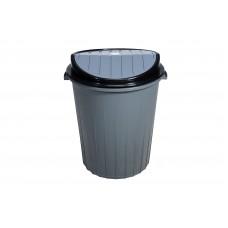 Κάδος Απορριμμάτων Πλαστικός Αιωρούμενο Καπάκι 50lt Γκρι TP2232-M-GRY-50L