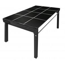 Τραπέζι Γυάλινο Μαύρο Χρώμα Μεταλλικά Πόδια 70110BLK 70x110x75υψ