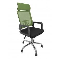 Καρέκλα Γραφείου Δίχτυ Μεταλλική Βάση Πράσινη Με Προσκέφαλο 302GN