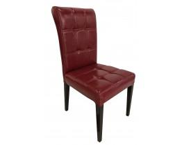 Καρέκλα Με Τεχνόδερμα Μπορντώ B-01RED 46x50x95υψ