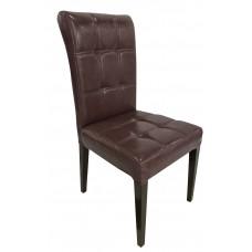 Καρέκλα Με Τεχνόδερμα Καφέ B01-COF 46x50x95υψ