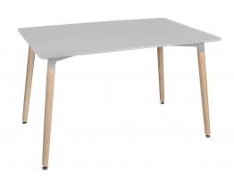 Τραπέζι Ξύλινο Άσπρο TBL-01-WHT-18 120x70x75υψ