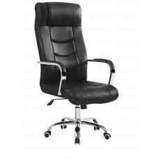 Καρέκλα Διευθυντική Μαύρη Δερματίνη Μεταλλική Βάση OFF-CHR-PAI-827
