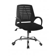Καρέκλα Γραφείου Δίχτυ Μεταλλική Βάση Μαύρη ΑΒ-948BLK