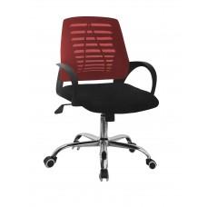 Καρέκλα Γραφείου Δίχτυ Μεταλλική Βάση Κόκκινη ΑΒ-948RED