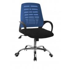 Καρέκλα Γραφείου Δίχτυ Μεταλλική Βάση Μπλε ΑΒ-948BLU