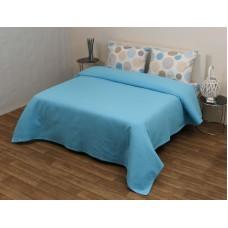 Κουβέρτα Πικέ Υπέρδιπλη Βαμβακερή 230x240εκ Στέφανι Τυρκουάζ Viopros