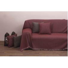 Μαξιλάρι Καναπέ Με Γέμιση Μονόχρωμο Σενίλ 42x42εκ 2100 Κόκκινο Viopros