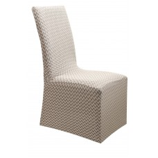 Κάλυμμα Καρέκλας Με Βολάν Ελαστικό Ζακάρ Μπεζ Diamond 2 Viopros