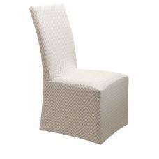 Κάλυμμα Καρέκλας Με Βολάν Ελαστικό Ζακάρ Κρεμ Diamond 2 Viopros