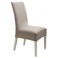 Κάλυμμα Καρέκλας Ελαστικό Ζακάρ Μπεζ Diamond 2 Viopros