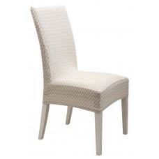 Κάλυμμα Καρέκλας Ελαστικό Ζακάρ Κρεμ Diamond 2 Viopros