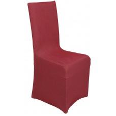 Κάλυμμα Καρέκλας Με Βολάν Ελαστικό Μπορντώ Elegant Viopros