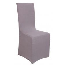 Κάλυμμα Καρέκλας Με Βολάν Ελαστικό Γκρι Elegant Viopros