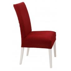 Κάλυμμα Καρέκλας Ελαστικό Μπορντώ Σίλβερ Viopros