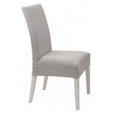 Κάλυμμα Καρέκλας Ελαστικό Ζαχαρί Σίλβερ Viopros