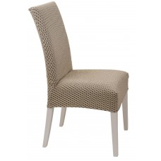 Κάλυμμα Καρέκλας Ελαστικό Μπεζ Σίλβερ Viopros