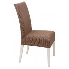 Κάλυμμα Καρέκλας Ελαστικό Σοκολά Σίλβερ Viopros