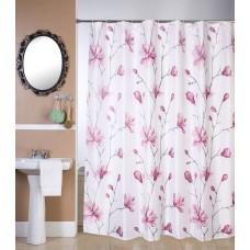 Κουρτίνα Μπάνιου Υφασμάτινη Αδιάβροχη 180x180υψ Καμέλια Viopros