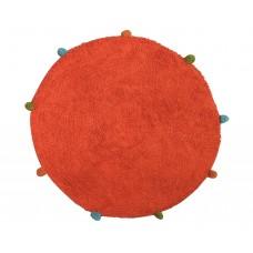 Πατάκι Μπάνιου 100% Βαμβάκι Στρογγυλό Φ60εκ Πορτοκαλί Φιέστα Viopros