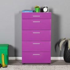 Συρταριέρα 5 Συρτάρια Μωβ Side 60x44x108υψ Fidelio FD-SFN550-UU1
