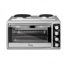 Φούρνος Inox 38Lt με 2 Εστίες 3100W Izzy 223444