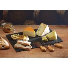 Πλατό Τυριών Φυσική Πέτρα Με 3 Μαχαίρια Τυριού Artesa Master Class 35x25εκ Kitchen Craft 35.02422