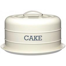 Πιατέλα Κέικ Μεταλλική Με Καπάκι Μπεζ Living Nostalgia Φ28,5x18υψ Kitchen Craft 35.01808