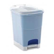 Κάδος Απορριμάτων Πλαστικός Koral Bin S 10lt Διάφανο - Μπλε Kis 19x24x28υψ 26.21060