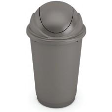 Κάδος Απορριμάτων Πλαστικός Γκρι Pivot 60lt Kis Φ45x75υψ 26.21088