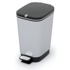 Κάδος Απορριμάτων Πλαστικός Ασημί - Μαύρο Chic Bin S 10lt Kis 18x27x30υψ 26.21041