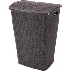 Καλάθι Απλύτων Πλαστικό Καφέ Rattan Style Curver 55lt 43x33x60υψ 21.16581