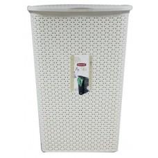 Καλάθι Απλύτων Πλαστικό Μπεζ Rattan Style Curver 55lt 43x33x60υψ 21.16582