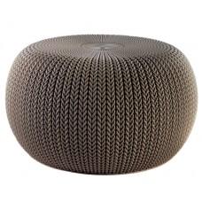 Κάθισμα Πλαστικό Καφέ Knit Cosy Keter Φ57x31,4υψ 26.00023