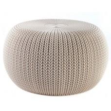 Κάθισμα Πλαστικό Μπεζ Knit Cosy Keter Φ57x31,4υψ 26.00024