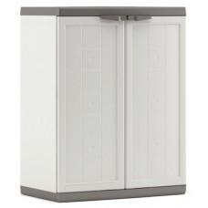Ντουλάπα Πλαστική Λευκό - Γκρι 1 Ράφι Χαμηλή Jolly Keter 68x39x85υψ 26.20054