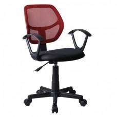 Πολυθρόνα Γραφείου Mesh Κόκκινο - Μαύρο.BF2740 Woodwell 52x49x81/91υψ 18737 ΕΟ526,2