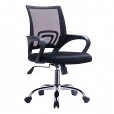 Πολυθρόνα Γραφείου με Aνάκλιση, Μέταλλο Χρώμιο Mesh Μαύρο BF2101-F Woodwell 57x53x90/100υψ 18809 ΕΟ254,4F