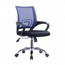 Πολυθρόνα Γραφείου με Aνάκλιση, Μέταλλο Χρώμιο Mesh Μπλε - Μαύρο BF2101-F Woodwell 57x53x90/100υψ 19653 ΕΟ254,3F