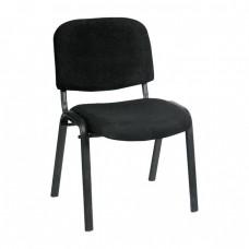 Καρέκλα Στοιβαζόμενη Γραφείου, Επισκέπτη Μέταλλο Βαφή Μαύρο, Ύφασμα Μαύρο SIGMA Woodwell 56x62x77υψ - Σωλ.35x16/1mm 23011 ΕΟ550,18W