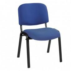 Καρέκλα Στοιβαζόμενη Γραφείου, Επισκέπτη Μέταλλο Βαφή Μαύρο, Ύφασμα Μπλε SIGMA Woodwell 56x62x77υψ - Σωλ.35x16/1mm 23208 ΕΟ550,19W