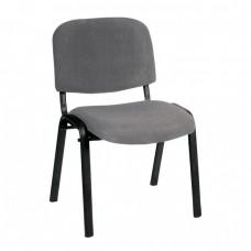 Καρέκλα Στοιβαζόμενη Γραφείου, Επισκέπτη Μέταλλο Βαφή Μαύρο, Ύφασμα Γκρι SIGMA Woodwell 56x62x77υψ - Σωλ.35x16/1mm 23209 ΕΟ550,20W